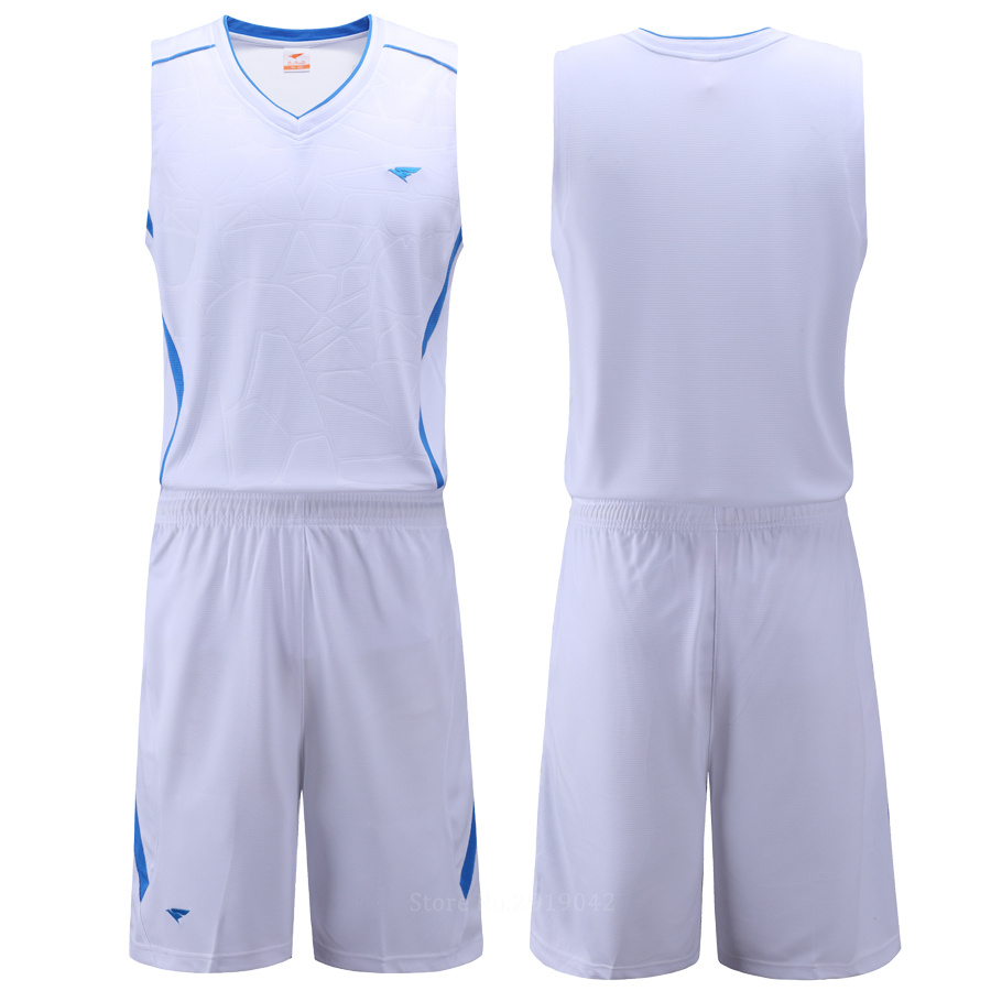 7279aeca93cd Aliexpress.com   Buy New Mens Blank Basketball Jersey Adults Sports Shirt  and Shorts Set Team Uniform Training Running Breathable Clothes Plus Size  from ...