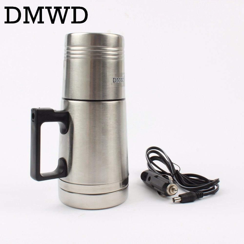 Car Hot Water Heater Cup Travel Heating Kettle Teapot Stainless Steel Sku 32831452648