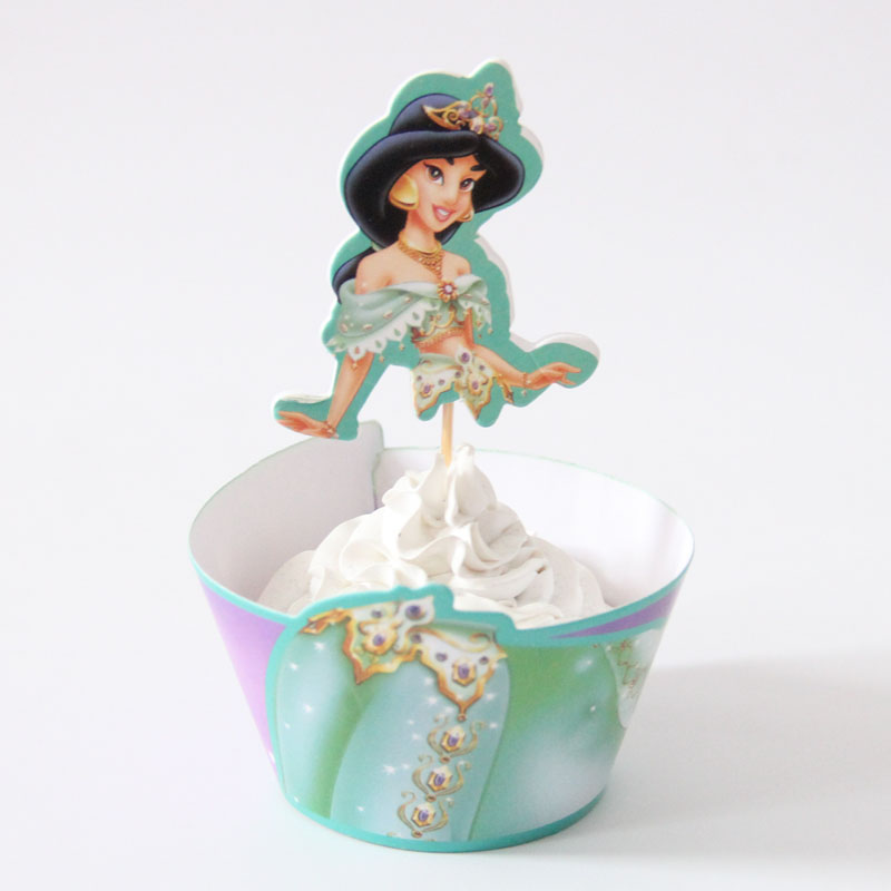 Disney Princess Cupcake Wrappers & Toppers