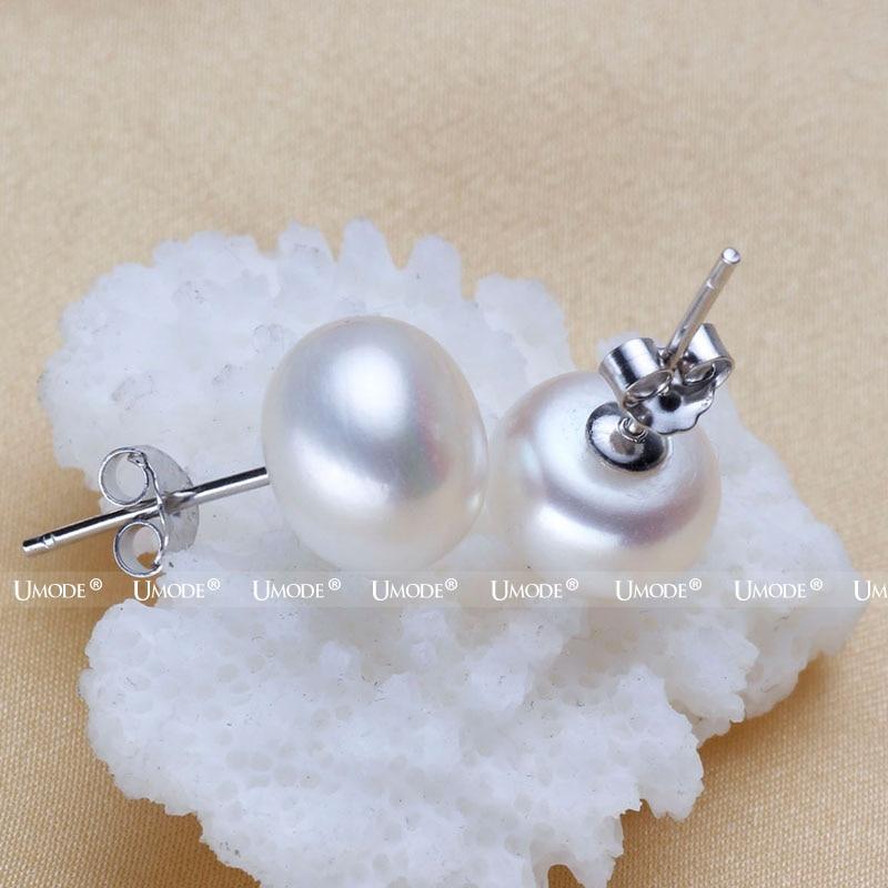 UMODE 8-9 mm 100% Natürliche Frischwasserperlen Ohrringe Schmuck 925 - Modeschmuck - Foto 2
