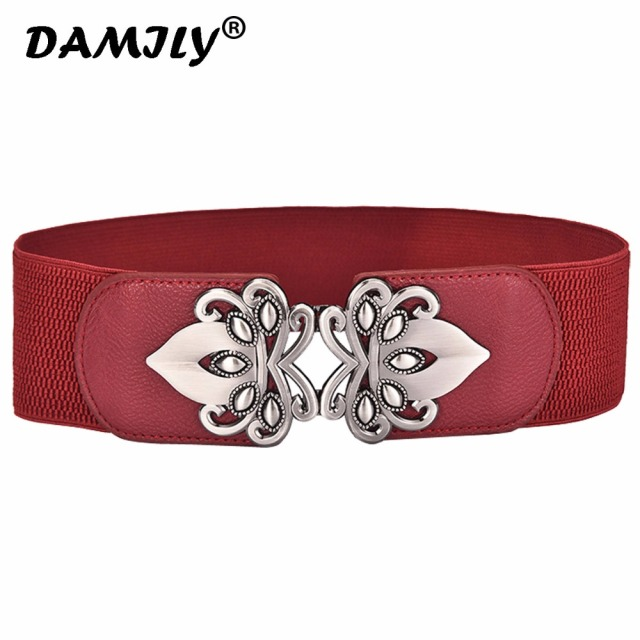 1457b0db084 Women Belts Luxury Brand Waistband Metal Buckle Belt Ladies Girls Stretchy  Elastic Waist Belt Design Waistband