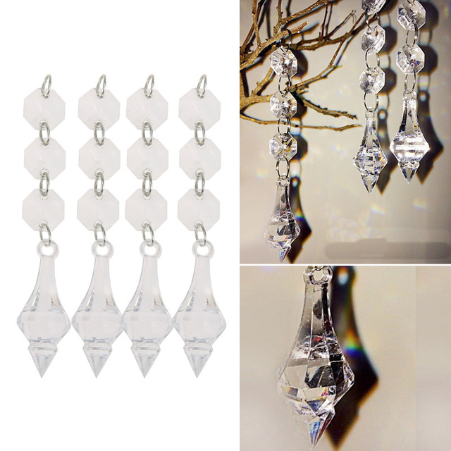 10 pcs wedding acrylic crystal 1438mm octagonal beads string drops 10 pcs wedding acrylic crystal 1438mm octagonal beads string drops pendant garland chandelier hanging aloadofball Images