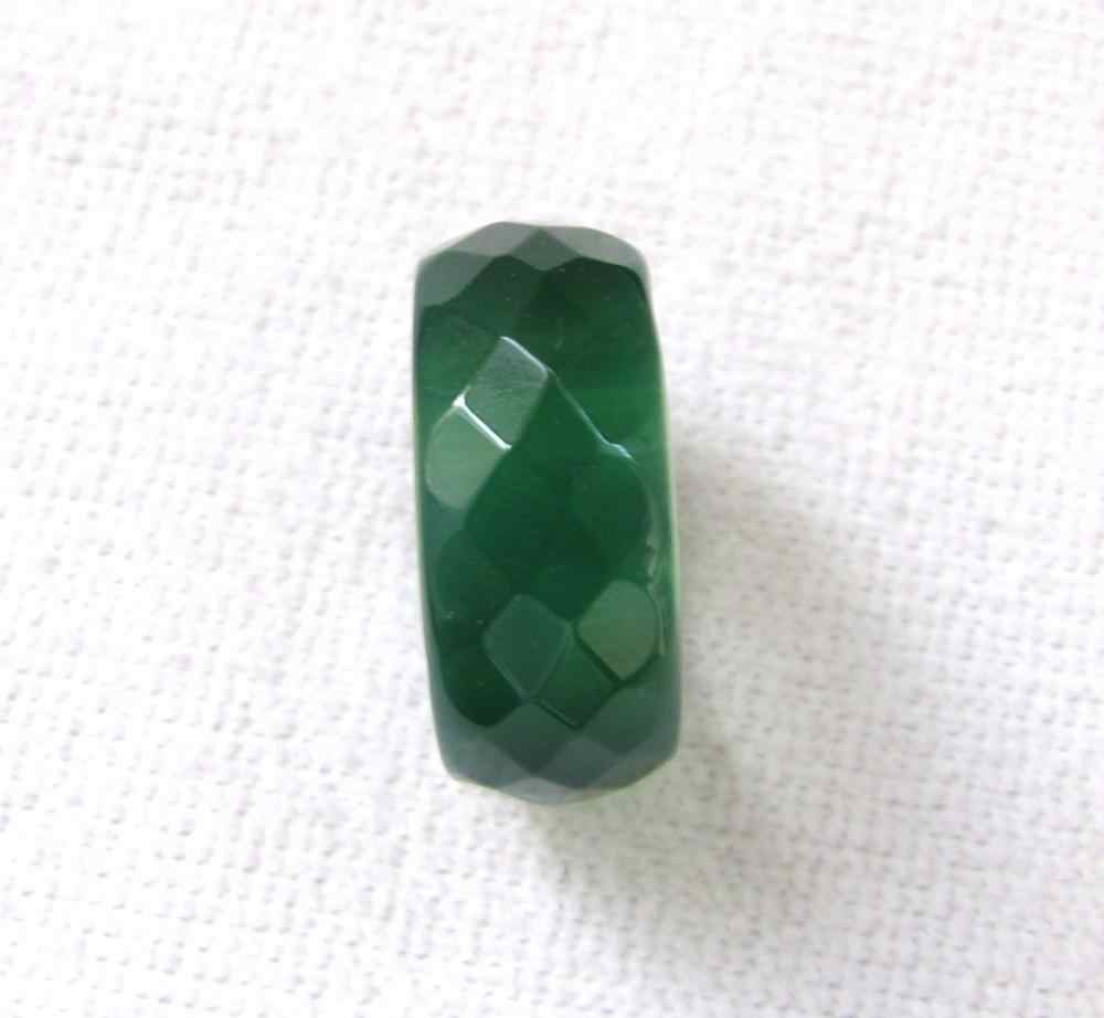 ธรรมชาติสีเขียว,สีขาว,สีแดง,สีดำ,นิลหยกมือแกะสลักแหวนวงขนาด9.5-10.5 #