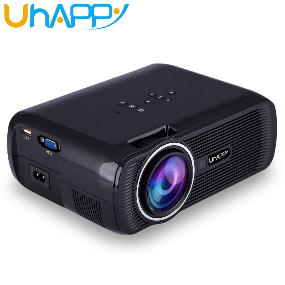 Uhappy X7 U80 Portable Mini Projector HDMI LCD Home Theater Beamer LED Overhead Proyector Support Full