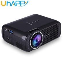 Uhappy x7 u80 portátil mini hdmi proyector lcd de cine en casa proyector led overhead proyector soporte full hd 1080 p de vídeo android