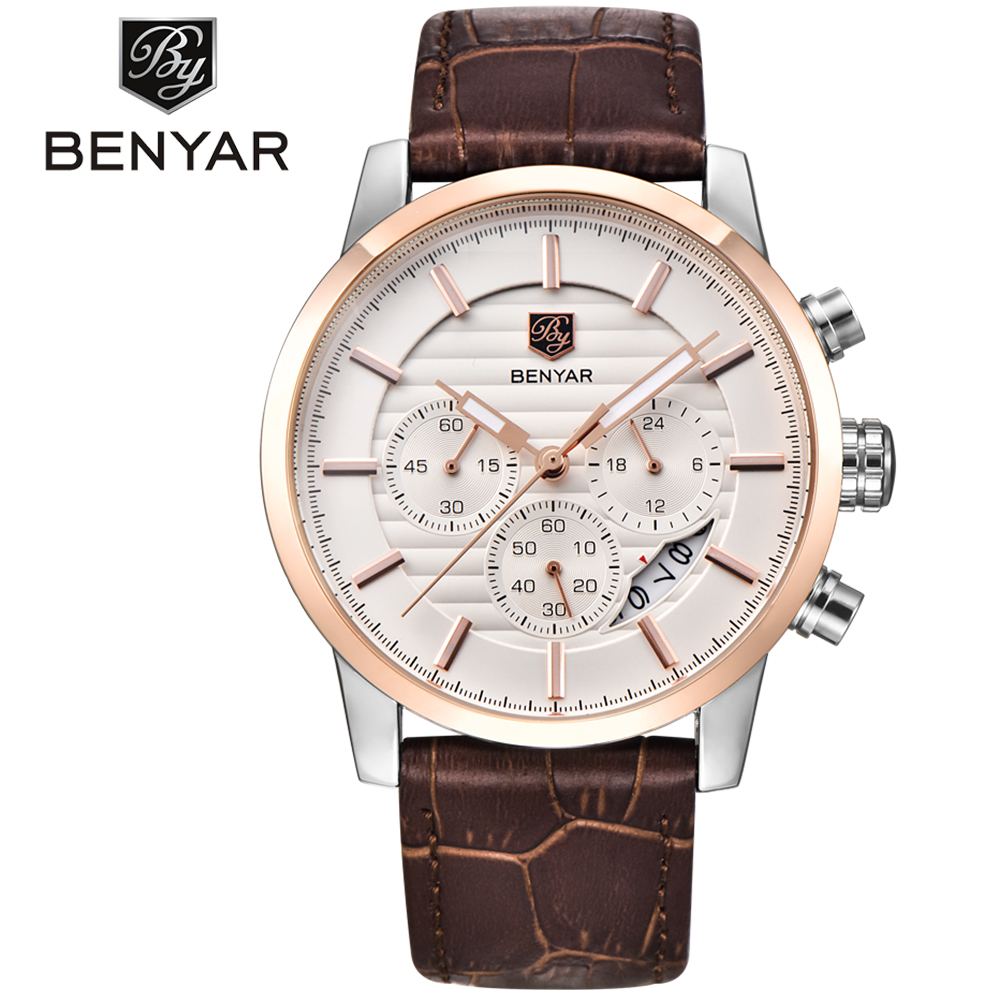 2017 BENYAR Fashion Chronograph Sport Mens Watches Top Brand Luxury Military Quartz Watch Clock Relogio Masculino Waterproof 30M benyar mens watches top brand luxury design chronograph sport fashion military clock waterproof quartz watch relogio masculino