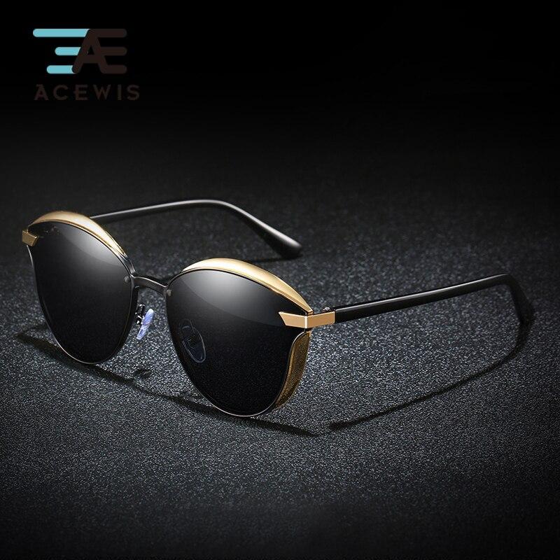 Acewis Marke Mode Polarisierte Sonnenbrille Frauen 2019 Neue Design Fahren Runde Rahmen Männer/frauen Sonnenbrille 24x Freies Verschiffen Neueste Mode