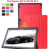 Case Tab2 A10 70 Leather Cover Case Funda For For Lenovo Tab 2 A10 70 10