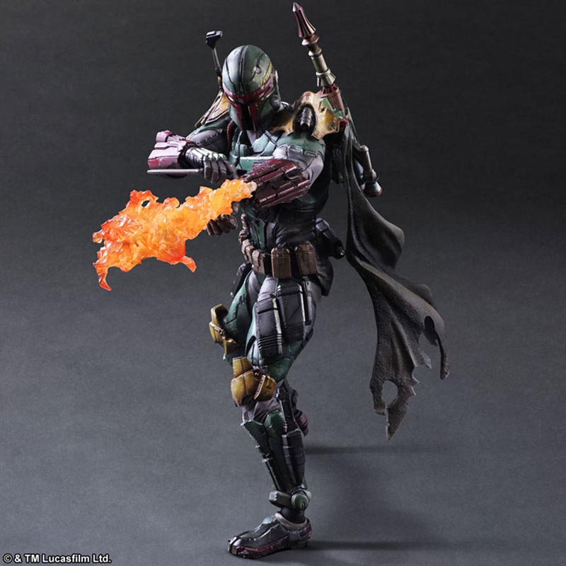 Star War Figure Play Arts Bounty Hunter Model Toys 25cm
