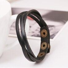 New Vintage Snap Bracelet Adjustable Leather Wrap