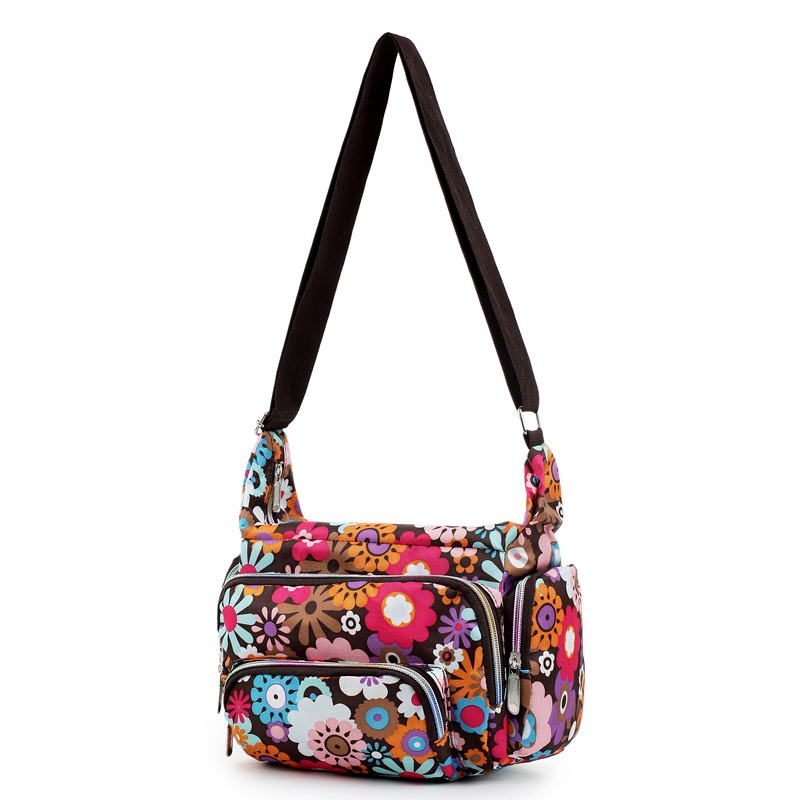 Women Messenger Bags Print Floral Cross Body Shoulder Canvas Hobo Bag Nylon Oxford Fabric Women ...