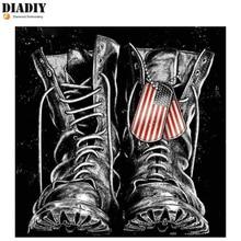 DIADIY алмазная живопись 5D «сделай сам» Военная Униформа обувь мозаичный узор вышивки крестом квадратный круглый поделки со стразами украшения дома росписи