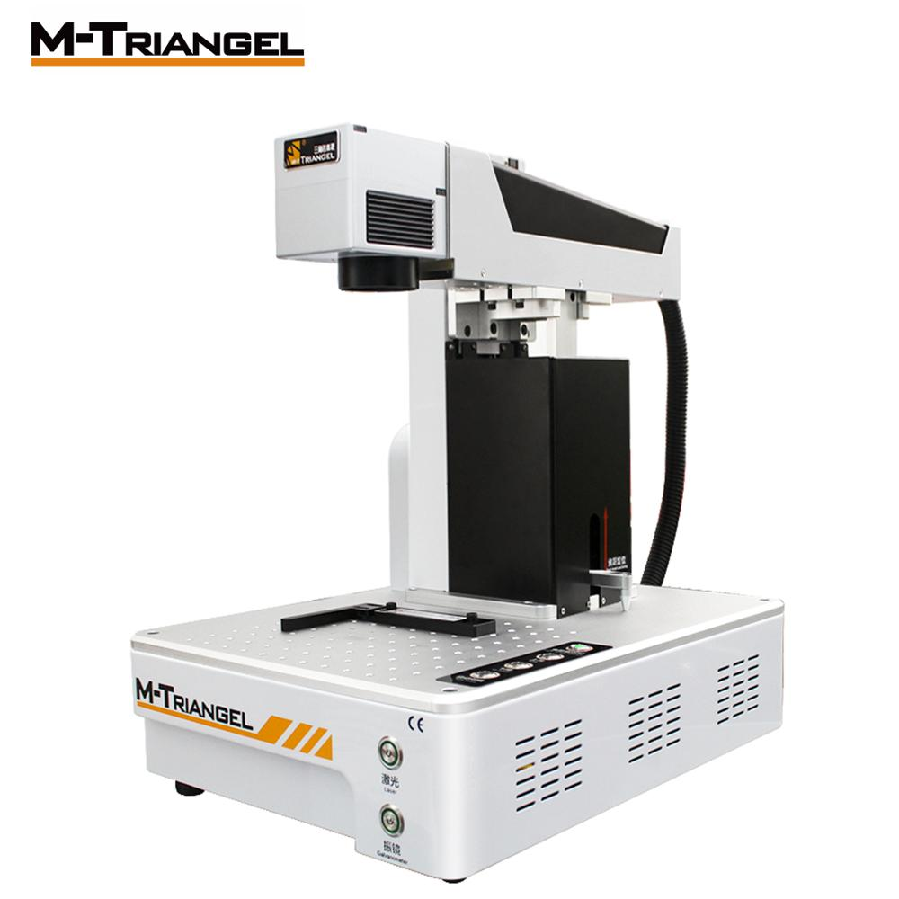 M Trianglel 20W Fiber Laser Metal Marking Machine Used for Aluminum Gold Silver Brass Engraving for LCD Frame Repair Separator