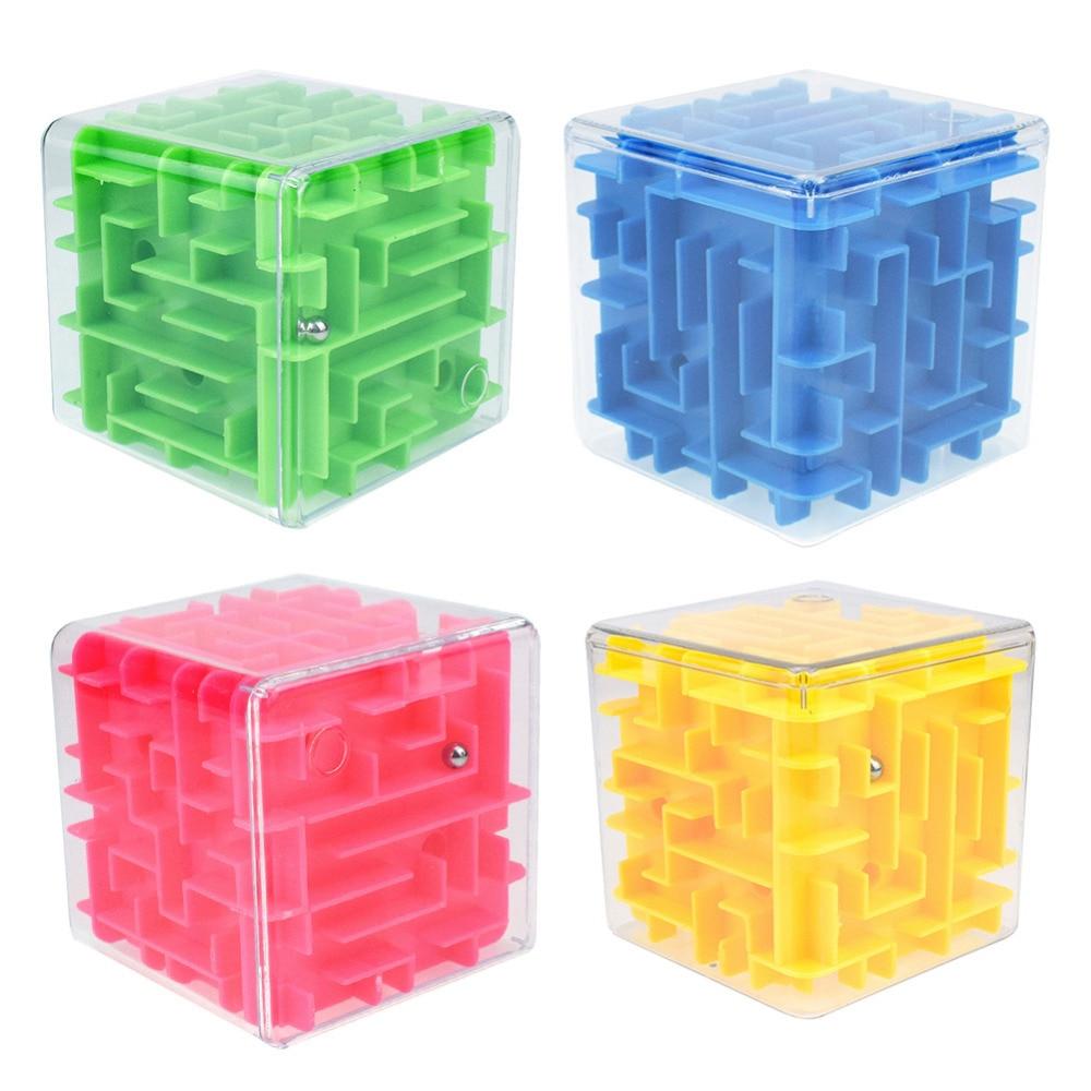 Professional Cube 3D Mini Speed Cube Maze Magic Cube Puzzle Maze Toy Kids Educational Decompression Capsule Toys Puzzles & Games
