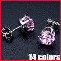 Wholesale Lead Nickel Free AAA CZ Earrings Real 18K Gold Platinum Plated Zircon Earrings - SKBTQ