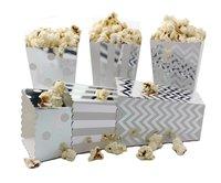 IPALMAY Bạc Mini Giấy Popcorn Boxes-Hộp Treat-Sinh Nhật Favor Box-Snack Hộp, gia đình Movie Đêm Hộp, bộ 72