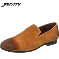 feiyitu 2018 Men Shoes Luxury Brand Braid Leather Casual Driving Oxfords Shoes Man Loafers Moccasins Italian Shoes for Men Flats