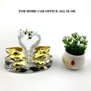 Image 5 - Auto ornamenti Creativo casa auto decorazione sede del profumo coppia cigno decorazioni profumo materiale di Cristallo migliore regalo per le persone