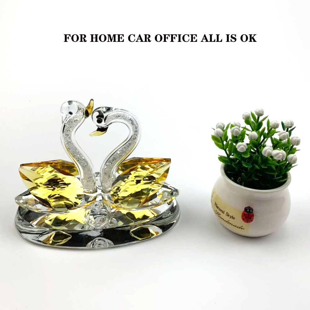 Image 5 - car ornaments Creative home car decoration perfume seat swan couple perfume decorations Crystal material best gift for people-in Ornaments from Automobiles & Motorcycles