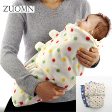 Winter Flannel Baby Blanket Newborn Soft Blankets new thicken double layer fleece infant swaddle bb envelope