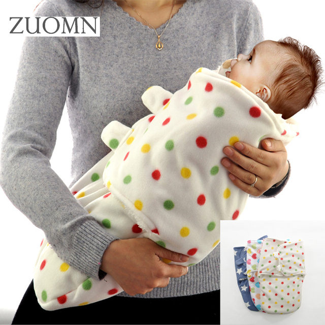 7d83871140 Winter Flannel Baby Blanket Newborn Soft Blankets new thicken double layer  fleece infant swaddle bb envelope