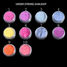 10 box Sunlight Sensitive Color Changing Nail Glitter Light Photochromic Dust Pigment Manicure Powder for UV Gel Decorations