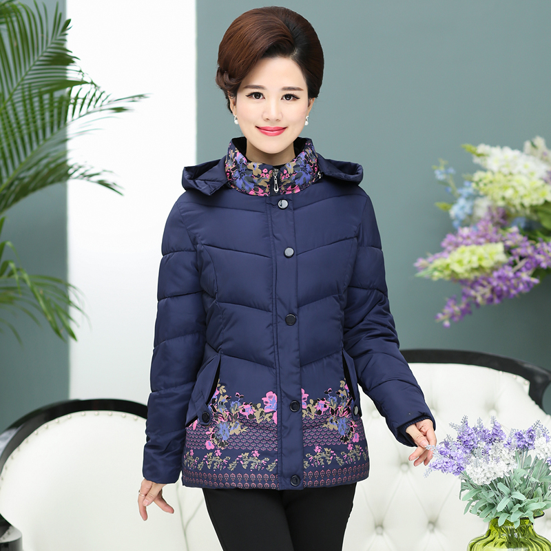 2017 In the elderly Women winter coat 60-70 mother winter coat winter grandmother down jacket cotton thickening in the elderly cotton down jacket women s winter coat thickening plus cashmere