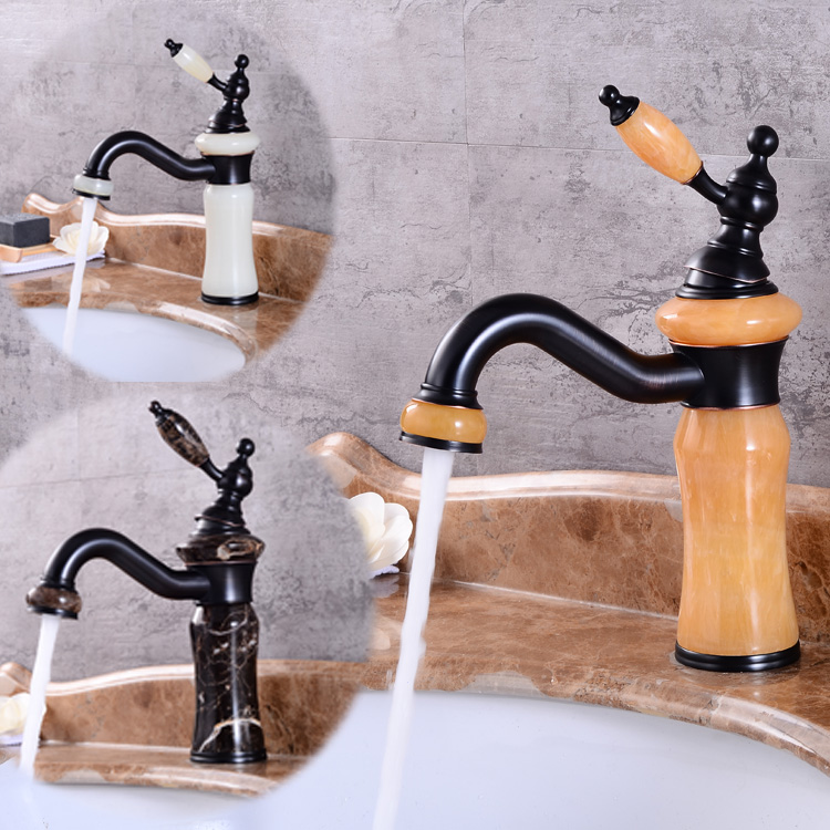 New arrival jade and brass faucet ORB finished bathroom basin faucet,Luxury sink tap basin mixer High Quality water tap high quality new arrival kitchen faucet chrome brass hot and cold water tap sink mixer tap wash basin faucet basin mixer bm