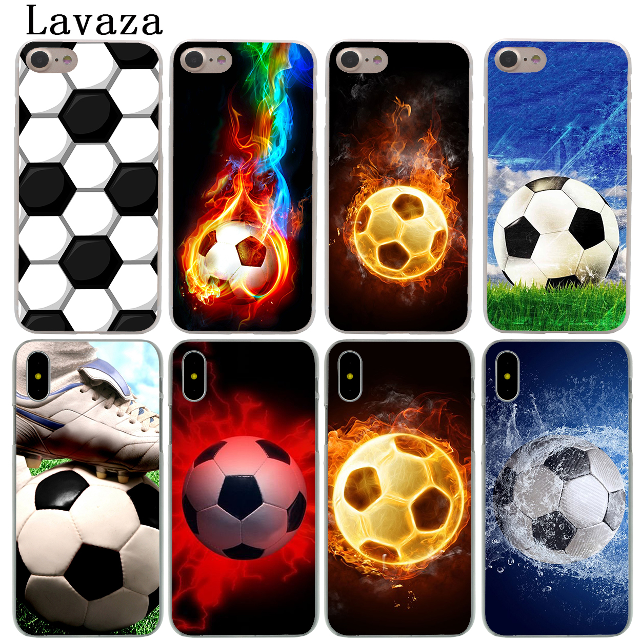 Lavaza Sports Soccer Football Hard Fashion Phone Shell Case for Apple iPhone X 10 8 7 6 6S Plus 5 5S SE 5C 4 4S Coque Cover