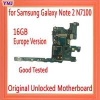 Ab versiyonu Samsung Galaxy not 2 için N7100 anakart Android sistemi  100% orijinal unlocked not 2 için N7100 anakart