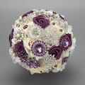 Роскошные Невеста, Холдинг Цветы Жемчужина Алмазов Свадебный Букет Шелковый Невесты Букеты TR002