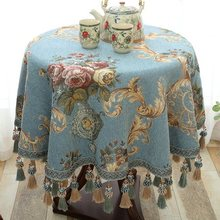 Luxury Tablecloth Hot Sale European style Round table cloth with Pendant kitchen accessories living roomhome decoration