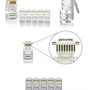AMP 100PCS/LOT Crystal RJ45 Pl