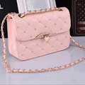 2016 New Fashion Style Small Women Handbags Diamond High Quality Solid Women Shoulder Bags Pu Leather Crossbody Bags For Female