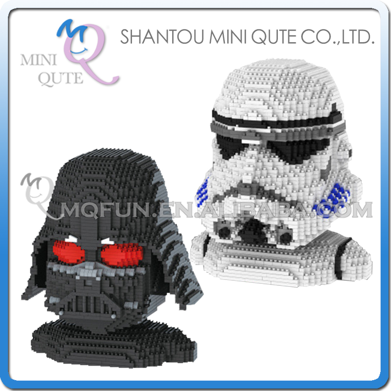 Full set 2 pcs Mini Qute YZ star wars Stormtrooper Darth Vader super hero kids plastic building block boys educational gift toy mini qute full set 2 pcs lot hc zootopia huge nick wilde judy hopps plastic building block cartoon model educational toy no 9011