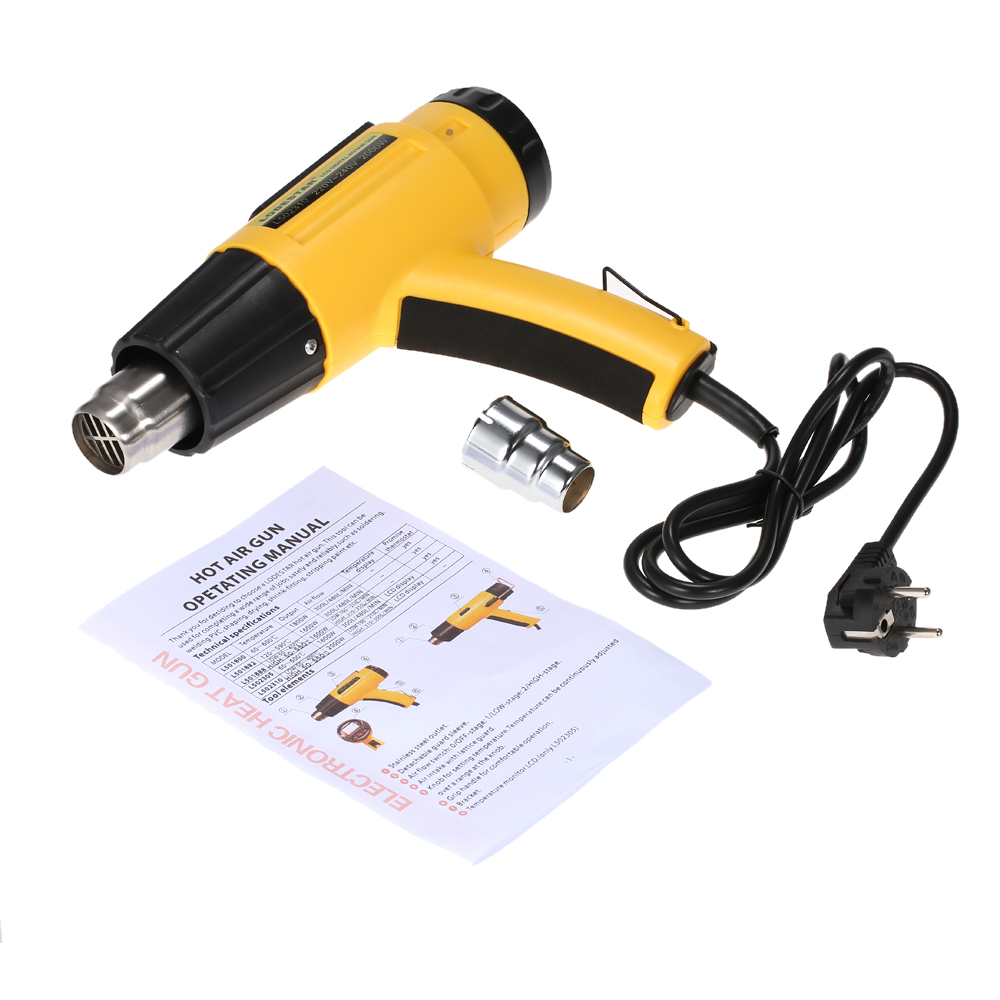 Image 5 - 2000W AC220 Digital Electric Hot Air Gun Temperature controlled Building Hair dryer Heat gun Soldering Tools Adjustable+ Nozzle-in Heat Guns from Tools on