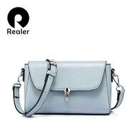 REALER женщины сумку моды женщин посыльного сумки женские плеча crossbody сумка женская большая емкость сумочка Светло-Голубой/Серый/черный