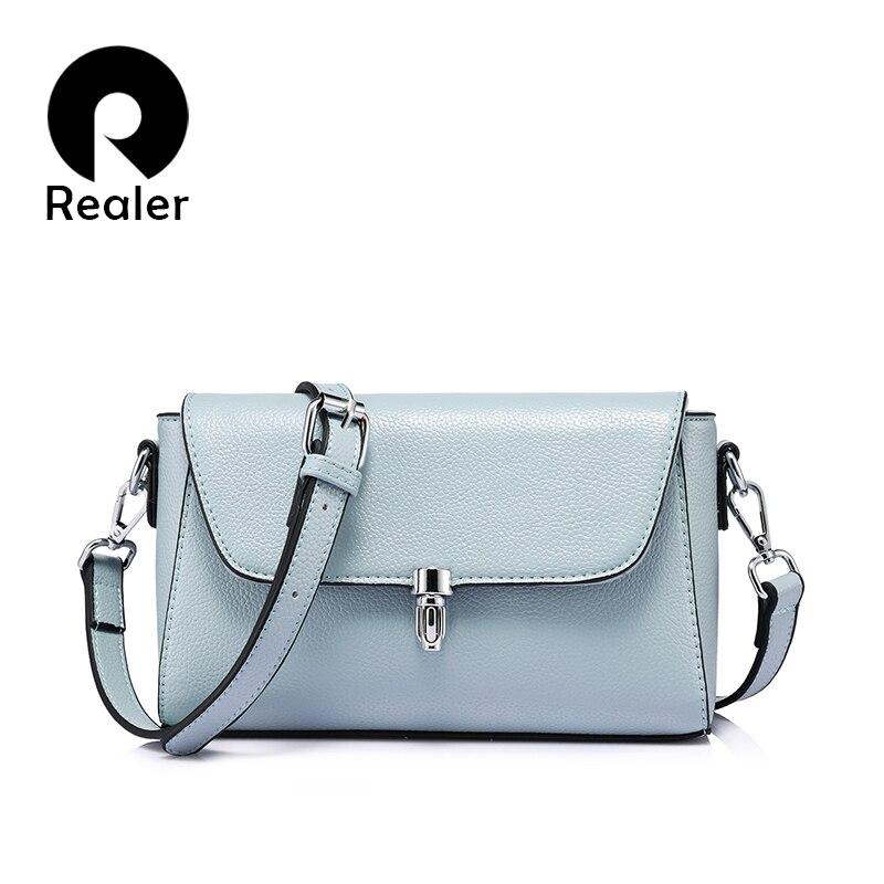 Realer women bag fashion women messenger bags female shoulder crossbody bag ladies large capacity handbag Light Blue/Gray/Black игрушка ecx ruckus gray blue ecx00013t1