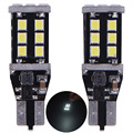 1 Pair LED Car Clearance Lights Plate 15W 15SMD Signal Width Light High Power Xenon White Lens Projector Lamp 350LM T10 DC12-24V