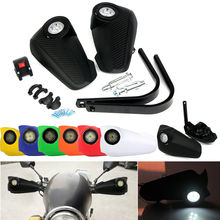 Triclick 7 Colors Motorcycle Led DRL Light Handguards Fit 7/8 (22mm) Handlebar Motorbike Brush Handle Bar Hand Guards Dirt Bike