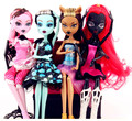 NO BOX Dolls Monster Draculaura/Clawdeen Wolf/ Frankie Stein Moveable Joint Body High Quality Girls Plastic Classic Toys Gifts