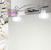 Led современные зеркала Лампы для мотоциклов Chrome/Серебряный цветок Настенные светильники домашние номер Ванная комната Санузел Настенные с