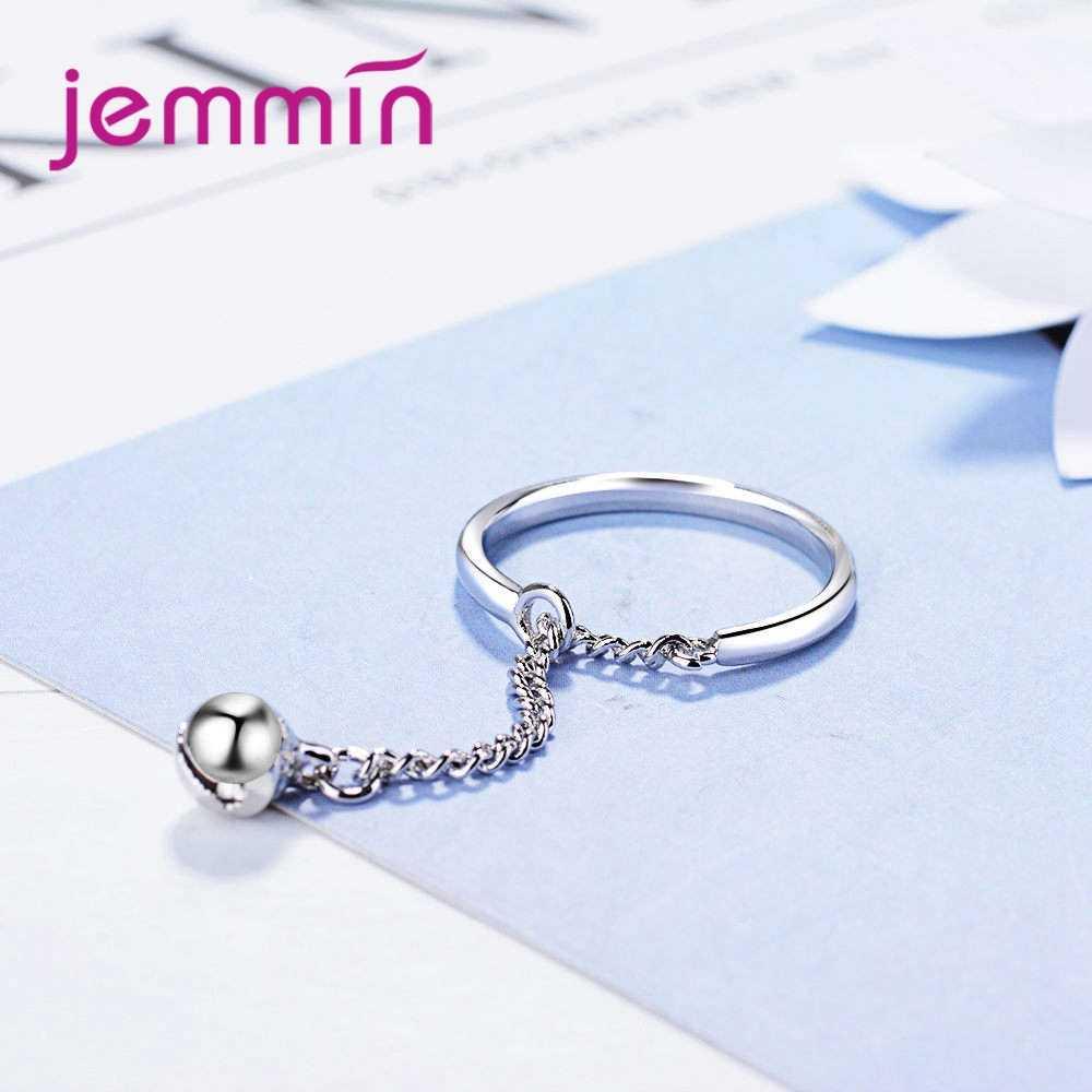 คุณภาพสูง Elegantment หวานผู้หญิงสาวครบรอบของขวัญยาวคลาสสิก 925 เงินสเตอร์ลิงปรับขนาดได้แหวน
