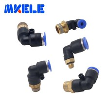 PL series pneumatic fitting externally threaded L-shaped air quick connector coupling adapter 1 pcs Package transportation fee