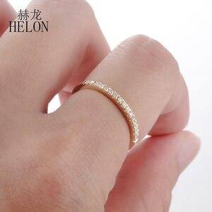 Image 2 - Женское кольцо с бриллиантами HELON Pave, розовое золото 10 к
