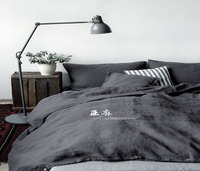 Natural Pure Washed Linen Duvet cover French Bed Linen Duvet Covers Flax Linen Bedding Softened Twin Full Queen King New