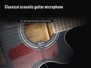 Image 2 - ギターマイク古典的なフォークギターマイクピックアップウクレレサウンドホールマイクポータブル歪まない