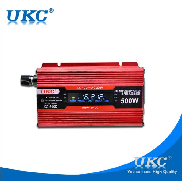 500W LCD display grid tie inverter 12v 220v dc ac solar inverter for home application