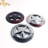 Metal TEXAS EDITION Shield Pentagram 3D Emblem Badge Car Fender Side Tail Body Sticker for JEEP Wrangler Liberty Grand Cherokee
