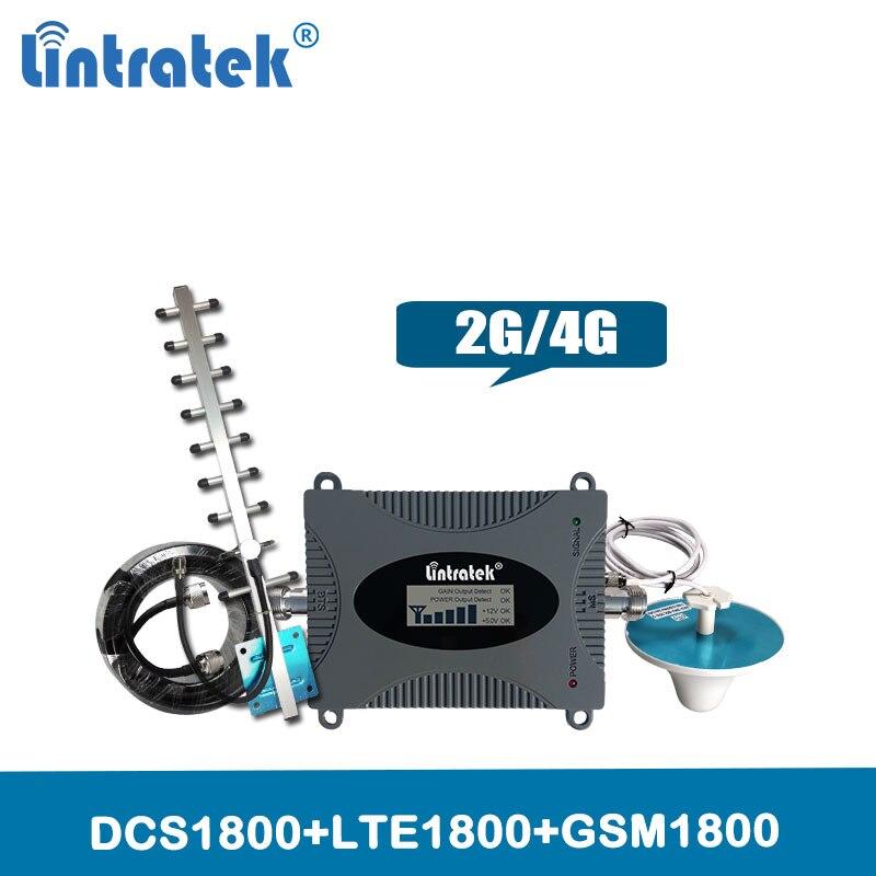 Répéteur de Signal 4G LTE 1800 mhz amplificateur de Signal cellulaire 65dB GSM1800 répéteur (bande 3) 4G amplificateur de Signal de téléphone portable Set @ 5